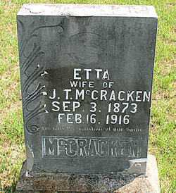 MCCRACKEN, ETTA - Carroll County, Arkansas | ETTA MCCRACKEN - Arkansas Gravestone Photos