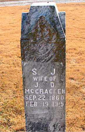 MCCRACKEN, S. J. - Carroll County, Arkansas   S. J. MCCRACKEN - Arkansas Gravestone Photos