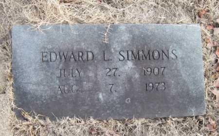 SIMMONS, EDWARD L - Carroll County, Arkansas | EDWARD L SIMMONS - Arkansas Gravestone Photos