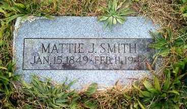 SMITH, MATTIE J - Carroll County, Arkansas | MATTIE J SMITH - Arkansas Gravestone Photos