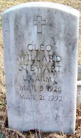STEWART (VETERAN), CLEO WILLARD - Carroll County, Arkansas | CLEO WILLARD STEWART (VETERAN) - Arkansas Gravestone Photos