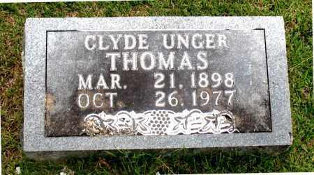 THOMAS, CLYDE  UNGER - Carroll County, Arkansas | CLYDE  UNGER THOMAS - Arkansas Gravestone Photos