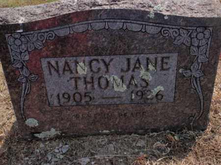 THOMAS, NANCY JANE - Carroll County, Arkansas | NANCY JANE THOMAS - Arkansas Gravestone Photos