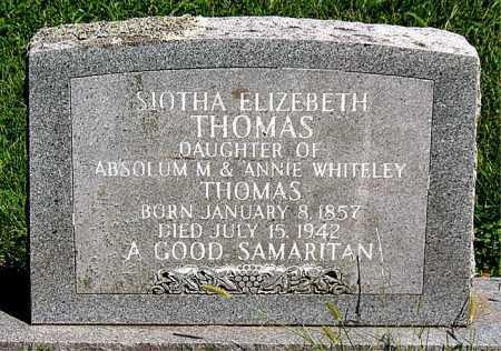 THOMAS, SIOTHA ELIZEBETH - Carroll County, Arkansas | SIOTHA ELIZEBETH THOMAS - Arkansas Gravestone Photos