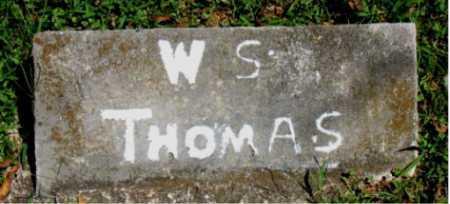THOMAS, W. S. - Carroll County, Arkansas | W. S. THOMAS - Arkansas Gravestone Photos