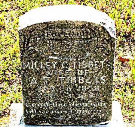 TIBBET, MILLEY C. - Carroll County, Arkansas | MILLEY C. TIBBET - Arkansas Gravestone Photos
