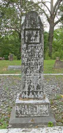 WALDEN, MARTHA A - Carroll County, Arkansas   MARTHA A WALDEN - Arkansas Gravestone Photos