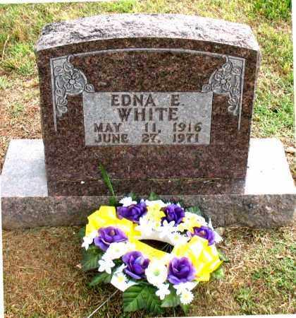 WHITE, EDNA  E. - Carroll County, Arkansas   EDNA  E. WHITE - Arkansas Gravestone Photos