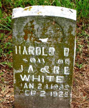 WHITE, HAROLD B - Carroll County, Arkansas | HAROLD B WHITE - Arkansas Gravestone Photos