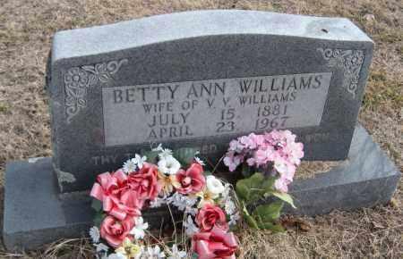 WILLIAMS, BETTY ANN - Carroll County, Arkansas | BETTY ANN WILLIAMS - Arkansas Gravestone Photos