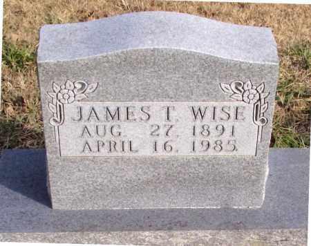WISE, JAMES  T. - Carroll County, Arkansas | JAMES  T. WISE - Arkansas Gravestone Photos
