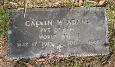 ADAMS (VETERAN WWII), CALVIN W - Chicot County, Arkansas   CALVIN W ADAMS (VETERAN WWII) - Arkansas Gravestone Photos