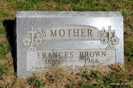 BROWN, FRANCES - Chicot County, Arkansas   FRANCES BROWN - Arkansas Gravestone Photos