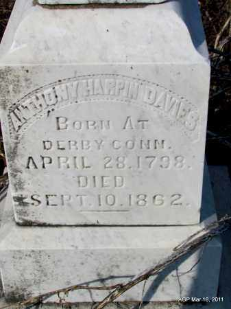 DAVIES, ANTHONY HARPIN (CLOSE UP) - Chicot County, Arkansas | ANTHONY HARPIN (CLOSE UP) DAVIES - Arkansas Gravestone Photos