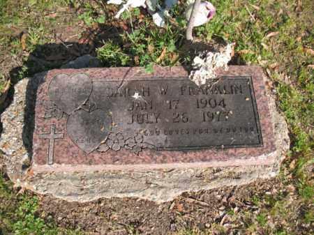FRANKLIN, SARAH W - Chicot County, Arkansas   SARAH W FRANKLIN - Arkansas Gravestone Photos