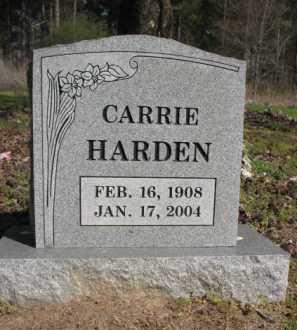 HARDEN, CARRIE - Chicot County, Arkansas   CARRIE HARDEN - Arkansas Gravestone Photos