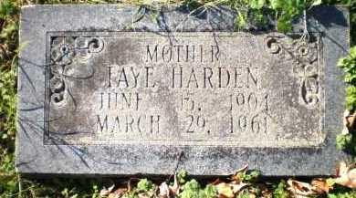 HARDEN, FAYE - Chicot County, Arkansas | FAYE HARDEN - Arkansas Gravestone Photos