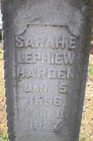 HARDEN, SARAH E - Chicot County, Arkansas | SARAH E HARDEN - Arkansas Gravestone Photos