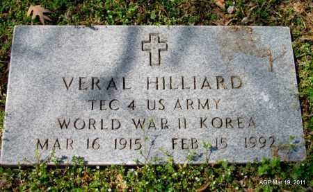 HILLIARD (VETERAN 2 WARS), VERAL - Chicot County, Arkansas | VERAL HILLIARD (VETERAN 2 WARS) - Arkansas Gravestone Photos