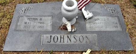 JOHNSON, FELTON H. - Chicot County, Arkansas | FELTON H. JOHNSON - Arkansas Gravestone Photos
