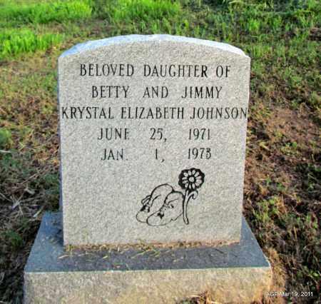 JOHNSON, KRYSTAL ELIZABETH - Chicot County, Arkansas | KRYSTAL ELIZABETH JOHNSON - Arkansas Gravestone Photos