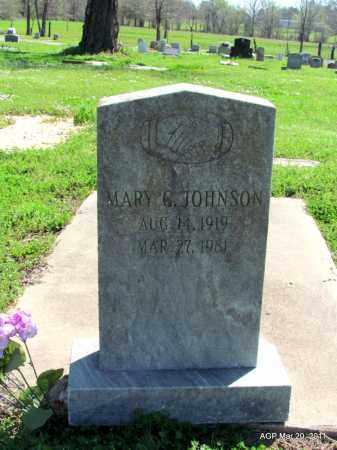 JOHNSON, MARY G - Chicot County, Arkansas | MARY G JOHNSON - Arkansas Gravestone Photos