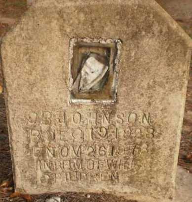 JOHNSON, O B - Chicot County, Arkansas | O B JOHNSON - Arkansas Gravestone Photos