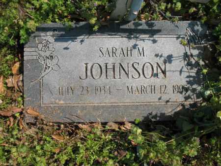 JOHNSON, SARAH M - Chicot County, Arkansas | SARAH M JOHNSON - Arkansas Gravestone Photos