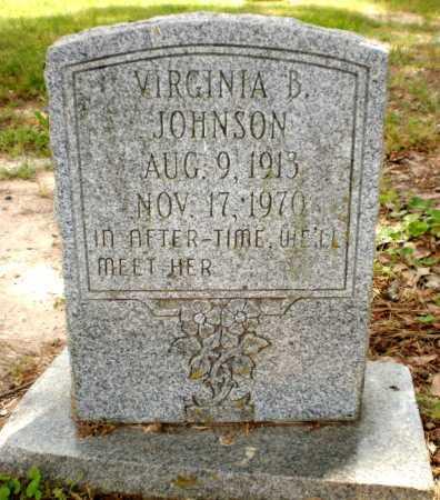 JOHNSON, VIRGINIA B - Chicot County, Arkansas | VIRGINIA B JOHNSON - Arkansas Gravestone Photos
