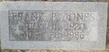 JONES, FRANK B - Chicot County, Arkansas | FRANK B JONES - Arkansas Gravestone Photos