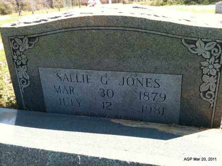JONES, SALLIE G - Chicot County, Arkansas   SALLIE G JONES - Arkansas Gravestone Photos