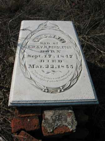 PENDLETON, WILLIAM GAINES - Chicot County, Arkansas | WILLIAM GAINES PENDLETON - Arkansas Gravestone Photos