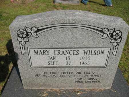 WILSON, MARY FRANCES - Chicot County, Arkansas   MARY FRANCES WILSON - Arkansas Gravestone Photos