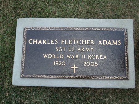 ADAMS (VETERAN 2 WARS), CHARLES FLETCHER - Clark County, Arkansas   CHARLES FLETCHER ADAMS (VETERAN 2 WARS) - Arkansas Gravestone Photos