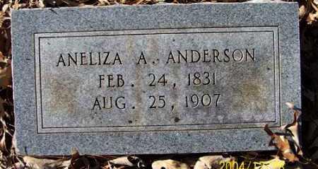 ANDERSON, ANELIZA A - Clark County, Arkansas   ANELIZA A ANDERSON - Arkansas Gravestone Photos