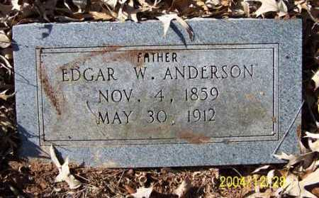ANDERSON, EDGAR W - Clark County, Arkansas | EDGAR W ANDERSON - Arkansas Gravestone Photos