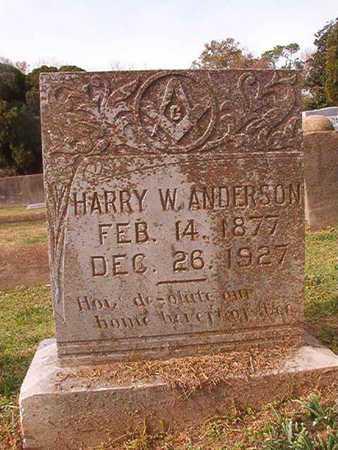 ANDERSON, HARRY W - Clark County, Arkansas | HARRY W ANDERSON - Arkansas Gravestone Photos
