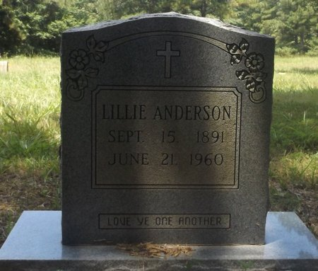 ANDERSON, LILLIE - Clark County, Arkansas   LILLIE ANDERSON - Arkansas Gravestone Photos