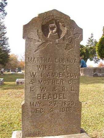 ANDERSON, MARTHA LUCINDA - Clark County, Arkansas | MARTHA LUCINDA ANDERSON - Arkansas Gravestone Photos