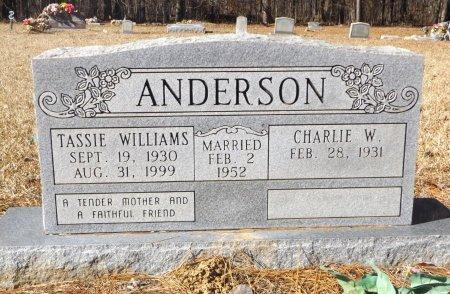 WILLIAMS ANDERSON, TASSIE - Clark County, Arkansas | TASSIE WILLIAMS ANDERSON - Arkansas Gravestone Photos