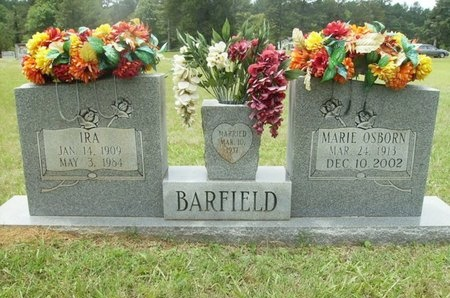 OSBORN BARFIELD, MARIE - Clark County, Arkansas | MARIE OSBORN BARFIELD - Arkansas Gravestone Photos