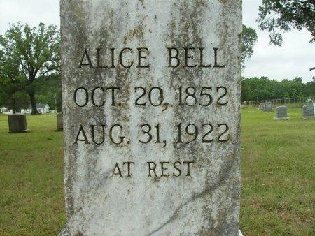BELL, ALICE (CLOSE UP) - Clark County, Arkansas | ALICE (CLOSE UP) BELL - Arkansas Gravestone Photos