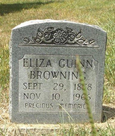 BROWNING, ELIZA GUINN - Clark County, Arkansas | ELIZA GUINN BROWNING - Arkansas Gravestone Photos