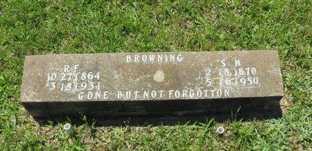 BROWNING, R.F. - Clark County, Arkansas | R.F. BROWNING - Arkansas Gravestone Photos