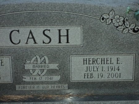 CASH, HERCHEL E. - Clark County, Arkansas   HERCHEL E. CASH - Arkansas Gravestone Photos