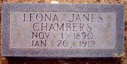JANES CHAMBERS, LEONA - Clark County, Arkansas | LEONA JANES CHAMBERS - Arkansas Gravestone Photos