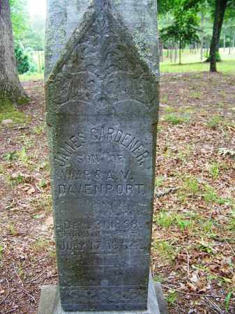 DAVENPORT, JAMES GARDENER - Clark County, Arkansas | JAMES GARDENER DAVENPORT - Arkansas Gravestone Photos