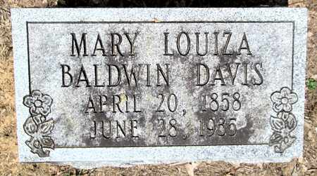 BALDWIN DAVIS, MARY LOUIZA - Clark County, Arkansas | MARY LOUIZA BALDWIN DAVIS - Arkansas Gravestone Photos