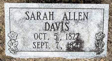 ALLEN DAVIS, SARAH - Clark County, Arkansas | SARAH ALLEN DAVIS - Arkansas Gravestone Photos