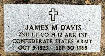 DAVIS (VETERAN CSA), JAMES M - Clark County, Arkansas   JAMES M DAVIS (VETERAN CSA) - Arkansas Gravestone Photos